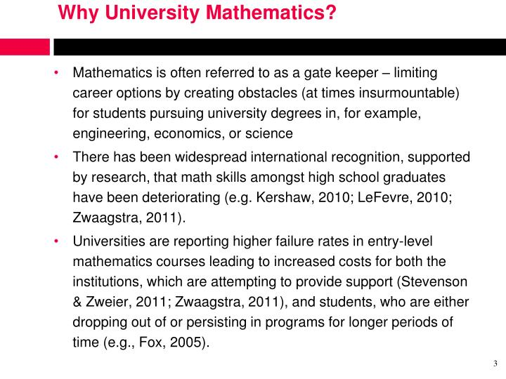 Why University Mathematics?