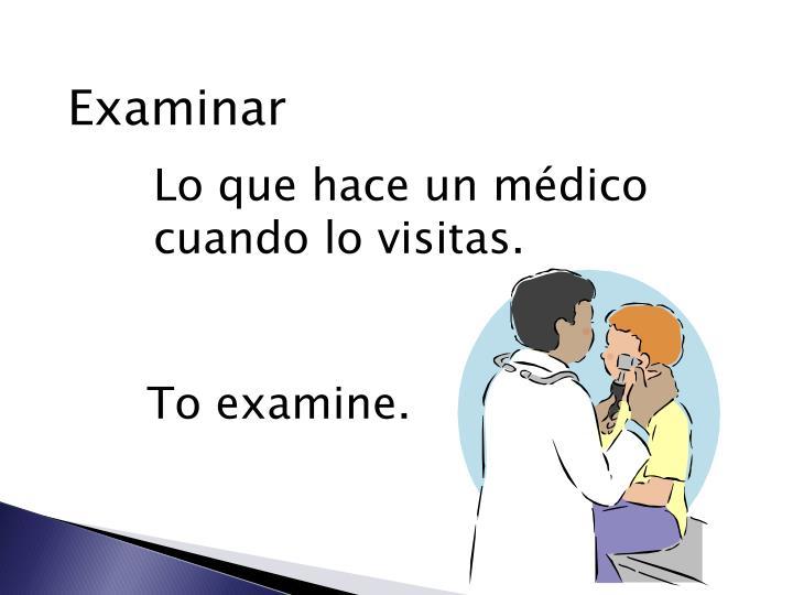Examinar