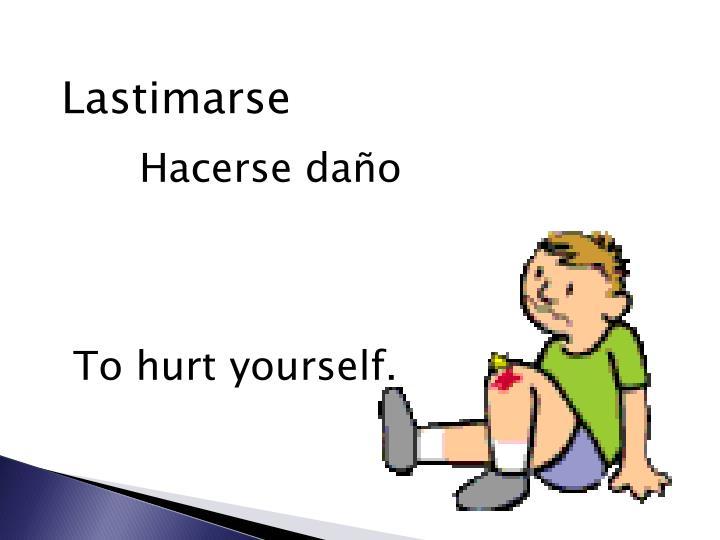 Lastimarse