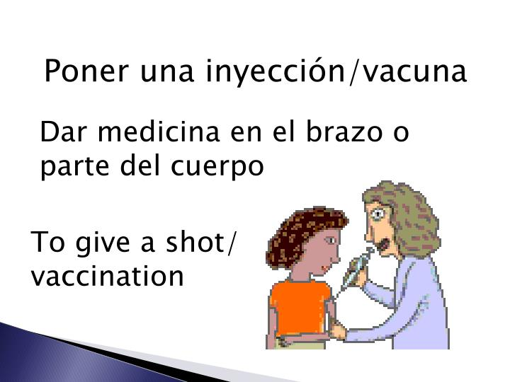 Poner una inyección/vacuna