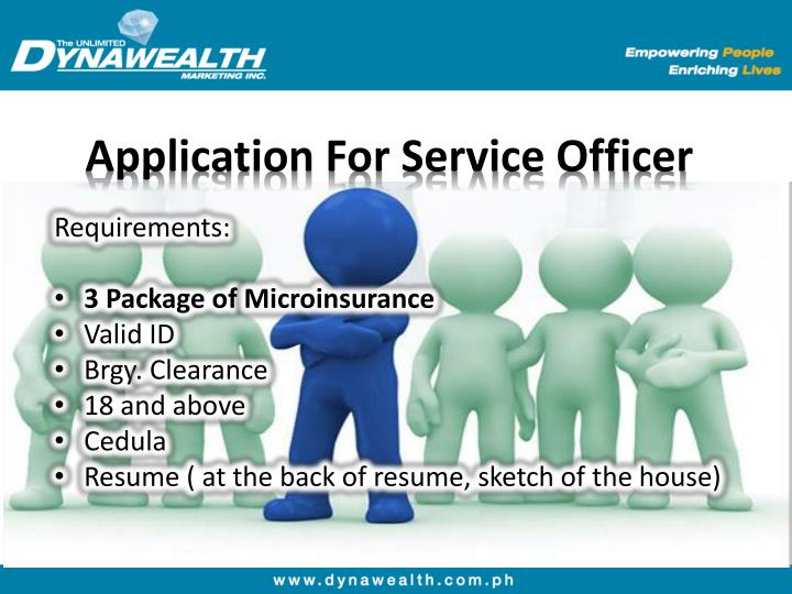 Application For Service Officer
