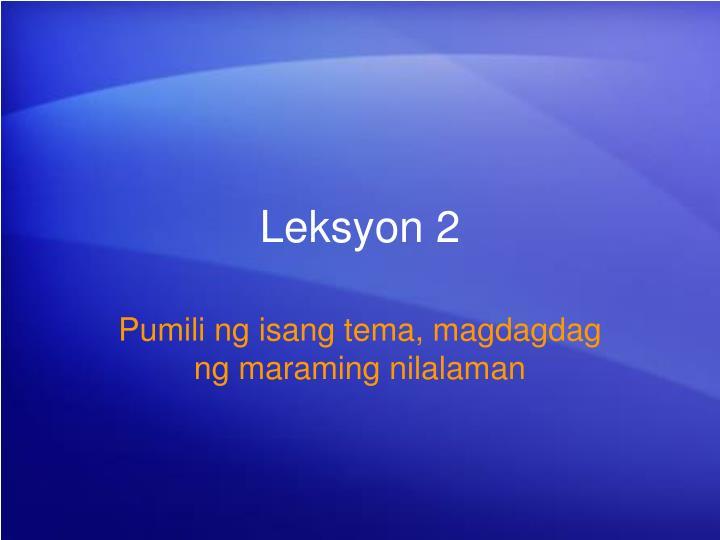 Leksyon