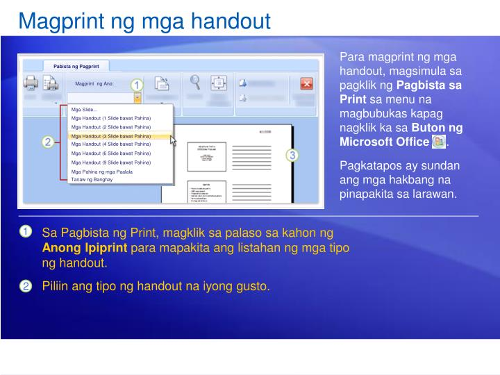 Magprint ng mga handout
