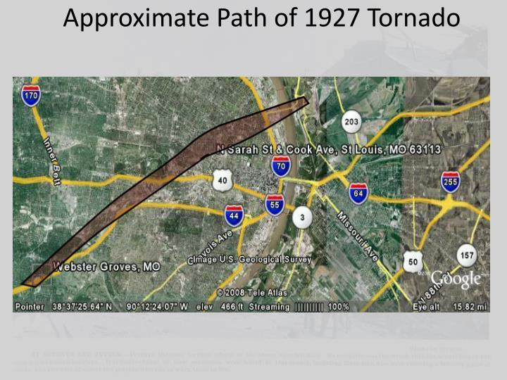 Approximate Path of 1927 Tornado