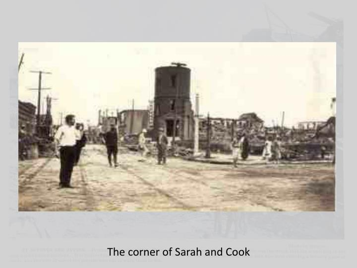 The corner of Sarah and Cook