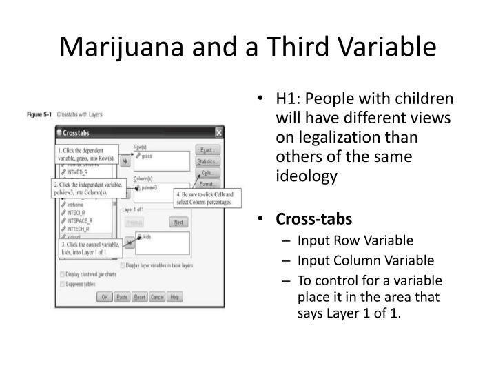 Marijuana and a Third Variable