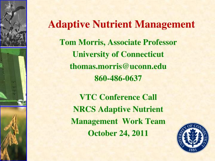 Adaptive nutrient management