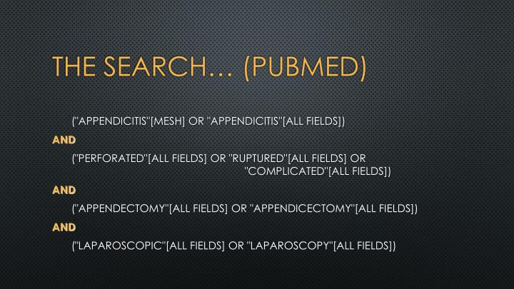 The search… (PUBMED)
