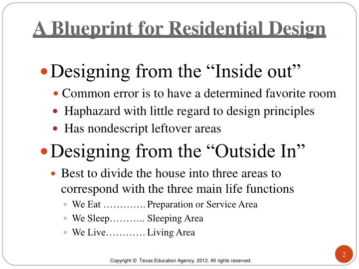 A blueprint for residential design