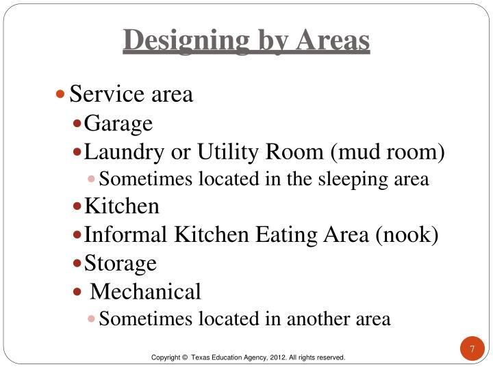 Designing by Areas