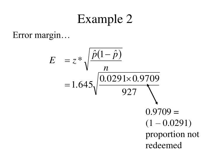 Error margin…