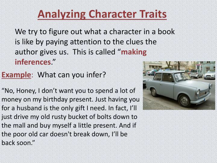 Analyzing Character Traits
