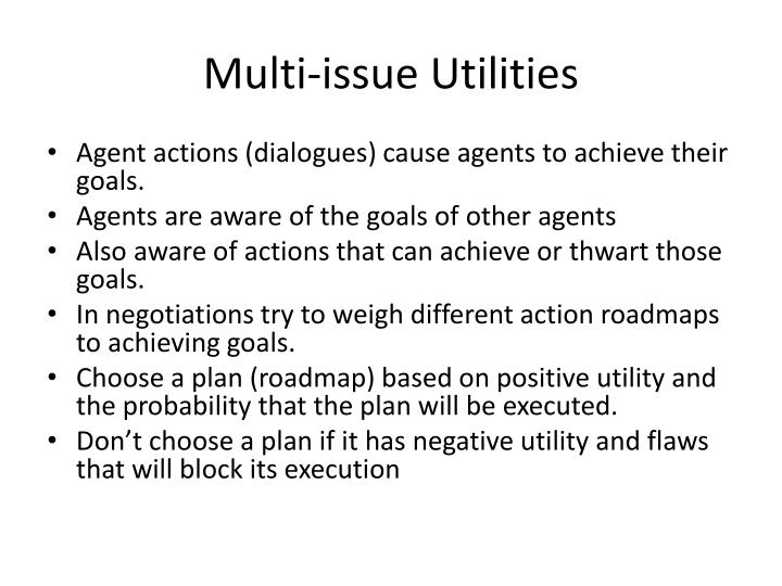 Multi-issue Utilities