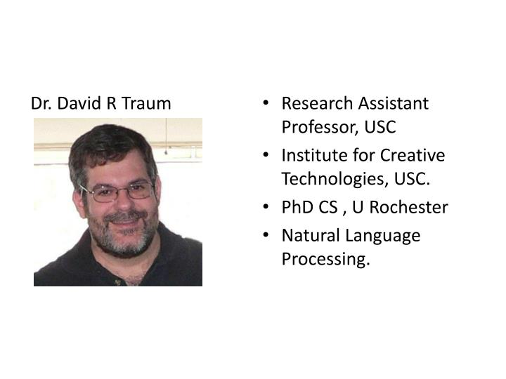 Dr. David R