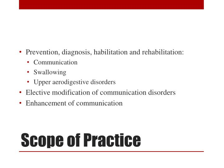 Prevention, diagnosis, habilitation and rehabilitation: