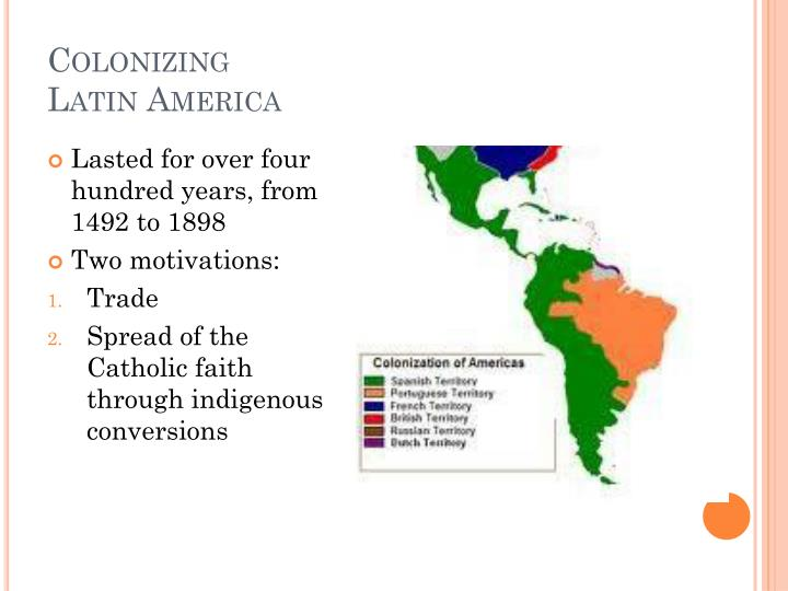 Colonizing latin america