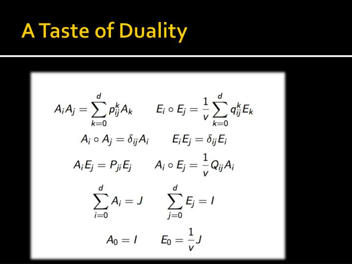 A Taste of Duality