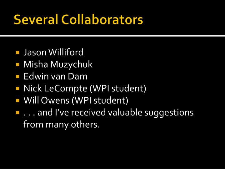 Several Collaborators