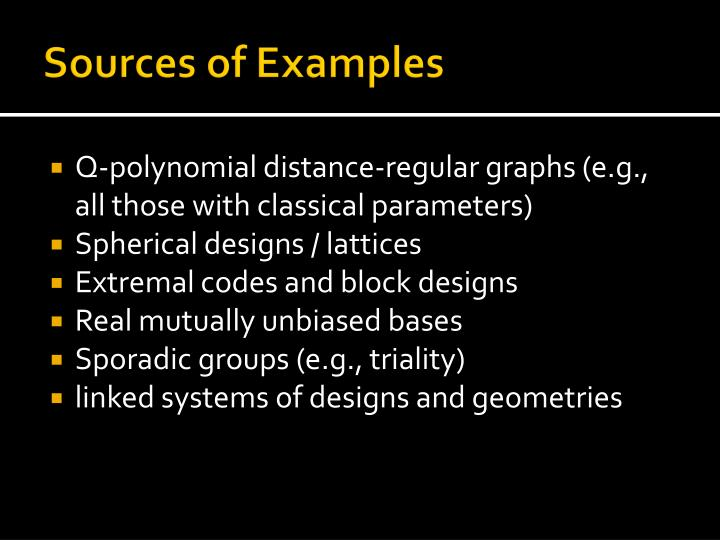 Sources of Examples