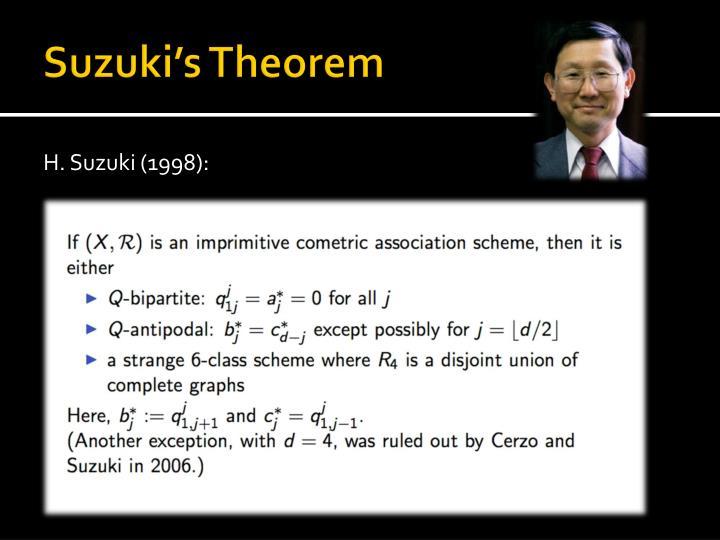 Suzuki's Theorem