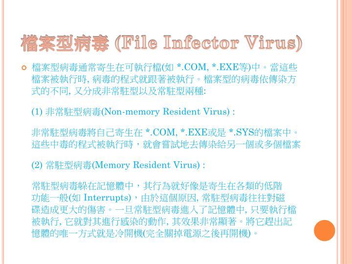 檔案型病毒