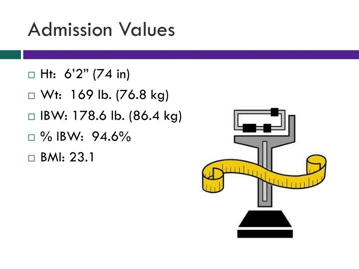 Admission Values