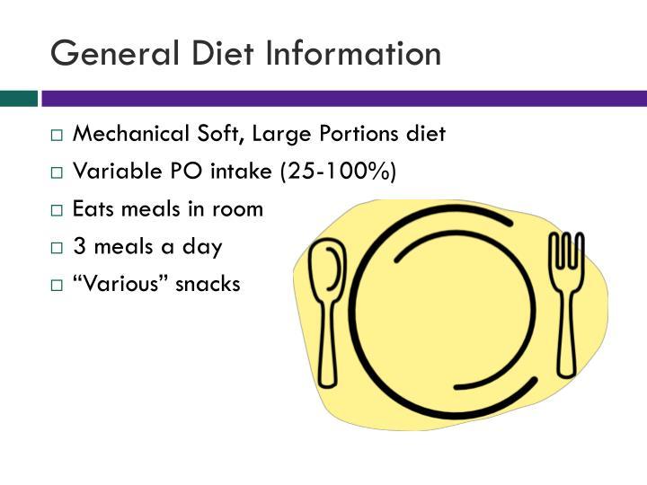 General Diet Information