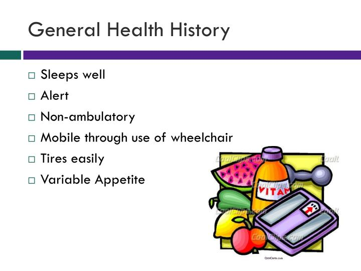 General health history