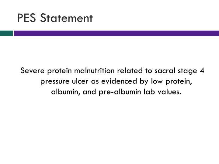 PES Statement