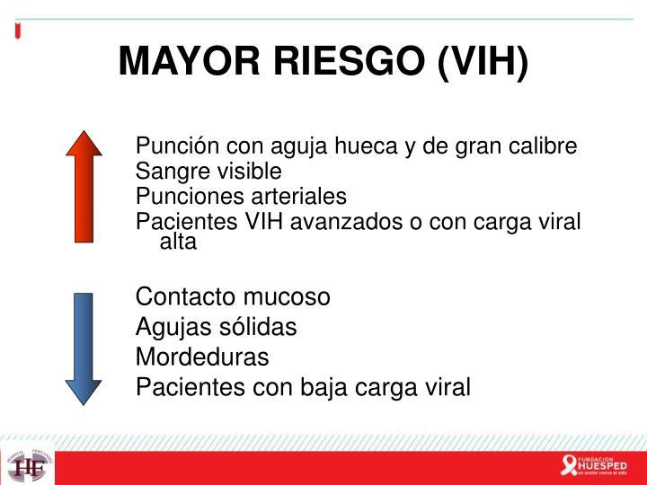 MAYOR RIESGO (VIH)