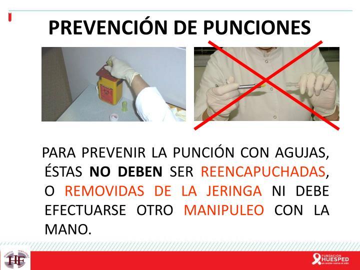 PREVENCIÓN DE PUNCIONES