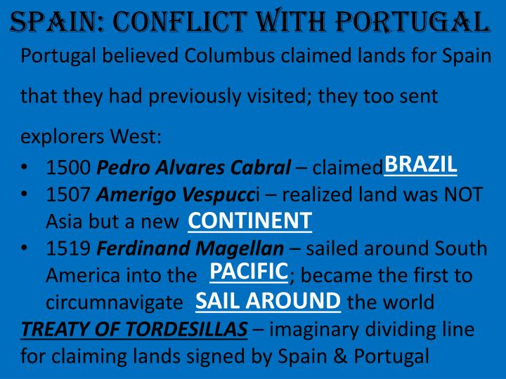 SPAIN: CONFLICT WITH PORTUGAL