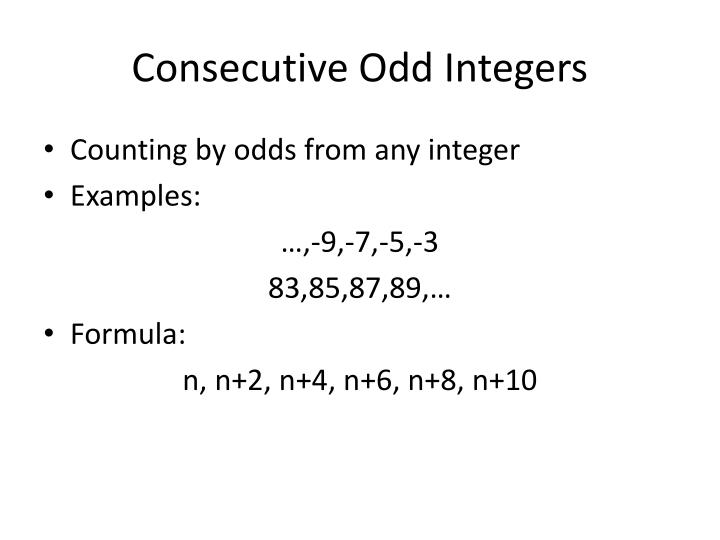 Consecutive Odd Integers