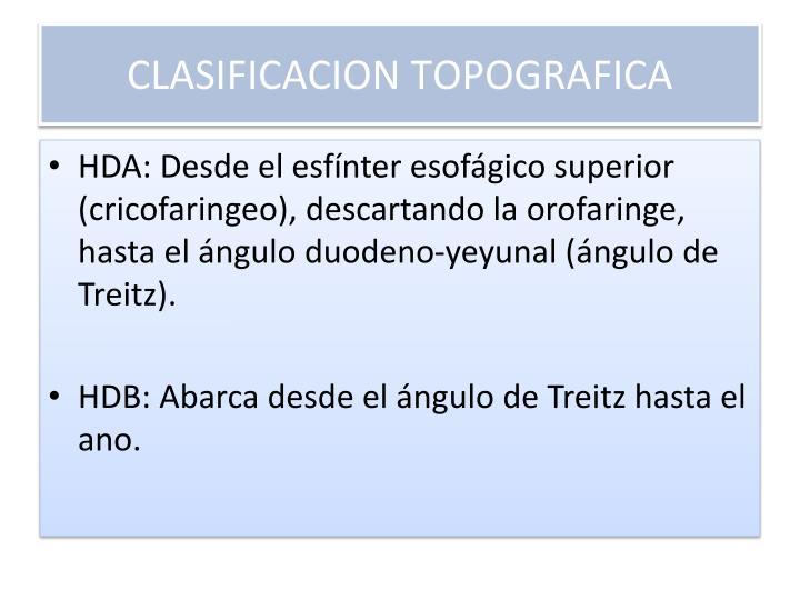 CLASIFICACION TOPOGRAFICA