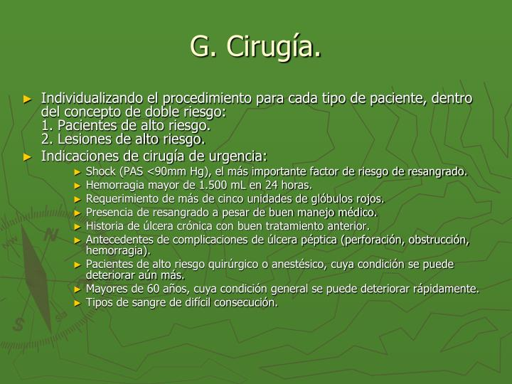 G. Cirugía.
