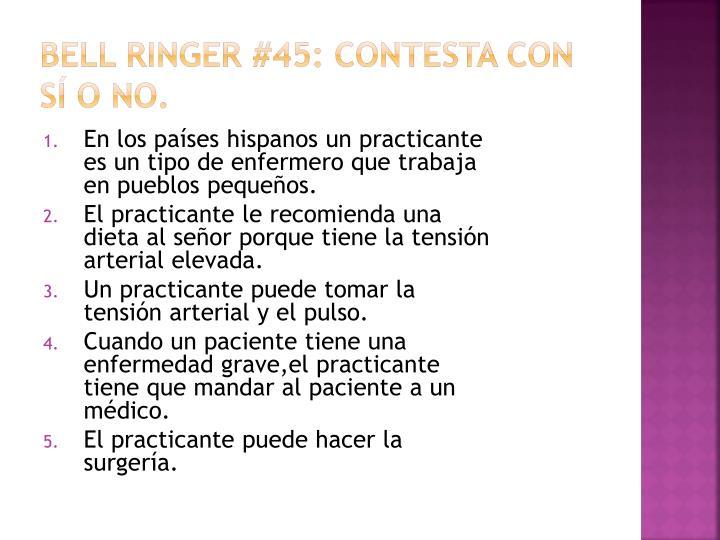 Bell Ringer #45: