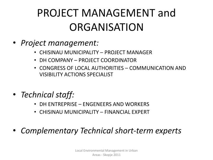 PROJECT MANAGEMENT and ORGANISATION