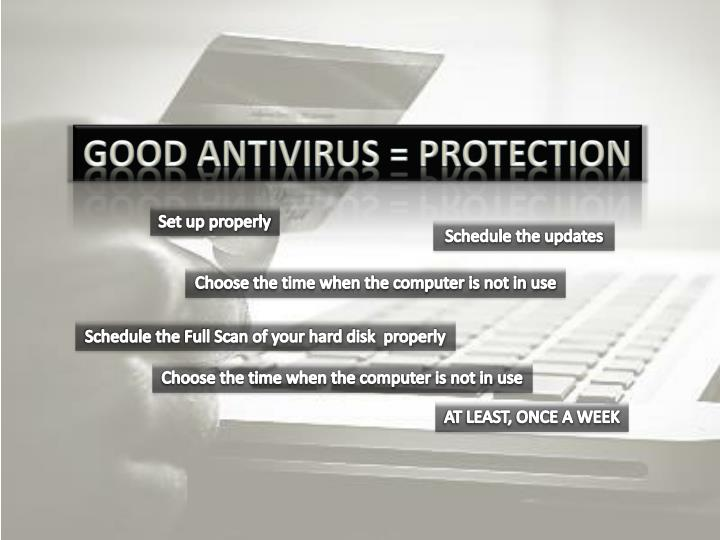 Good Antivirus = Protection