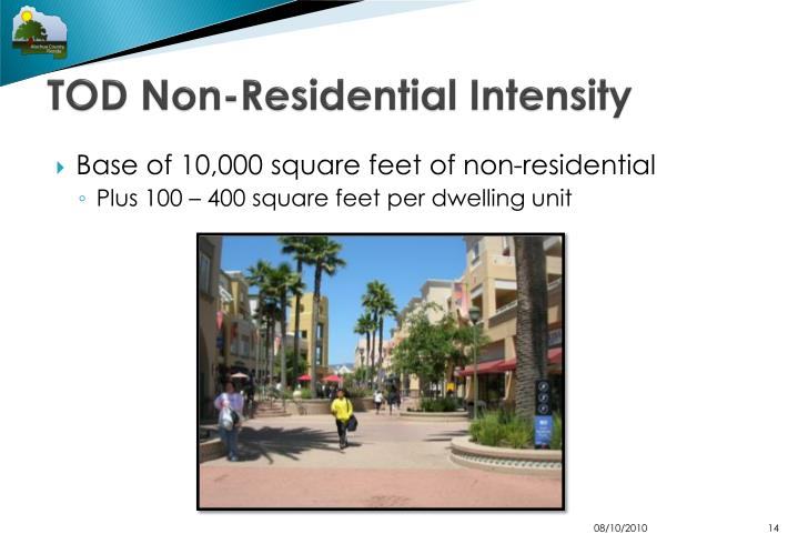 TOD Non-Residential Intensity