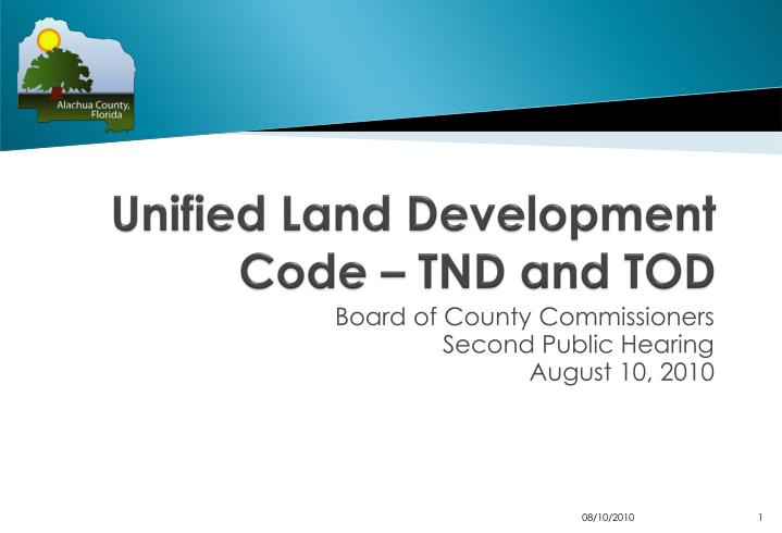 Unified land development code tnd and tod