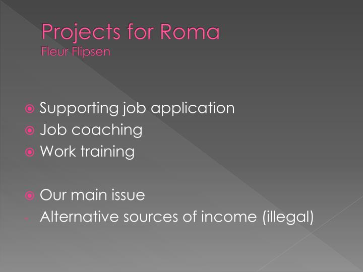Projects for roma fleur flipsen
