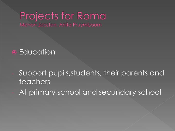 Projects for roma manon j oosten anita pruymboom