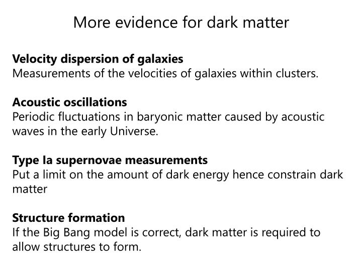 More evidence for dark matter