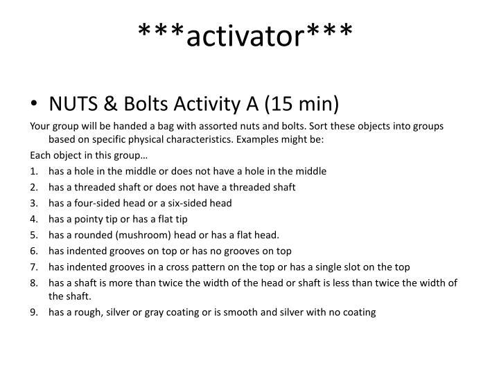 ***activator***