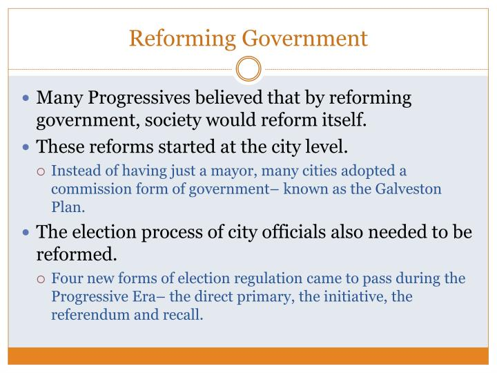 Reforming Government
