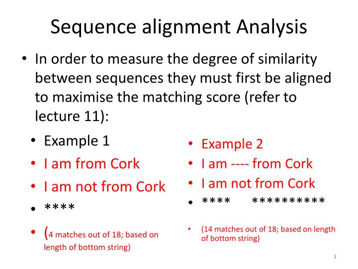 Sequence alignment analysis