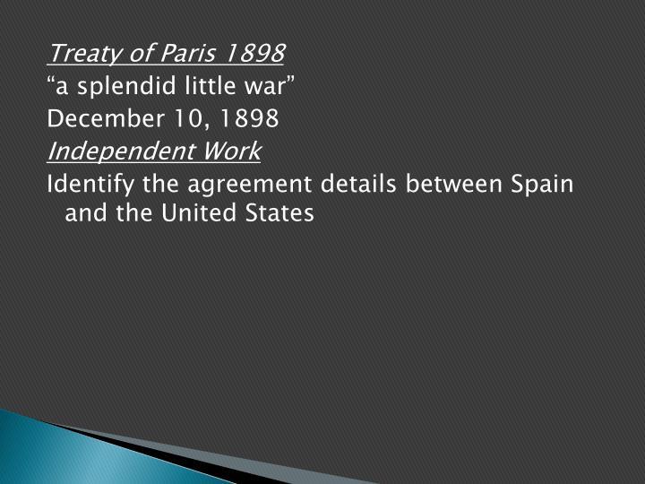 Treaty of Paris 1898