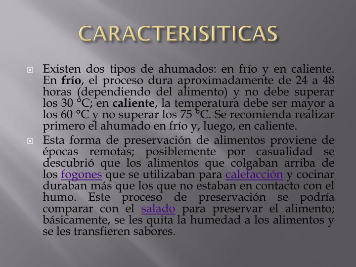 CARACTERISITICAS