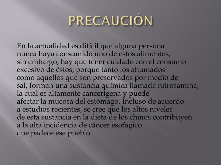 PRECAUCIÓN