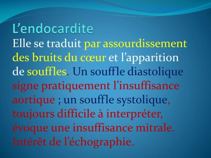 L'endocardite